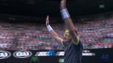 Video «Istomin eliminiert sensationell Djokovic» abspielen