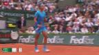 Video «Tennis: Der Start von Nadal und Djokovic in die French Open» abspielen