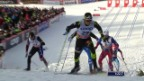 Video «Langlauf: Sprint in Östersund, Viertelfinal von Jovian Hediger» abspielen