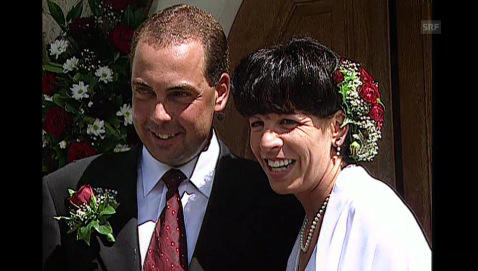 Vreni Schneider heiratet (Tagesschau vom 7.08.1999)