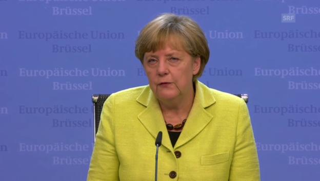 Video «Merkel sieht noch viel Arbeit vor sich» abspielen