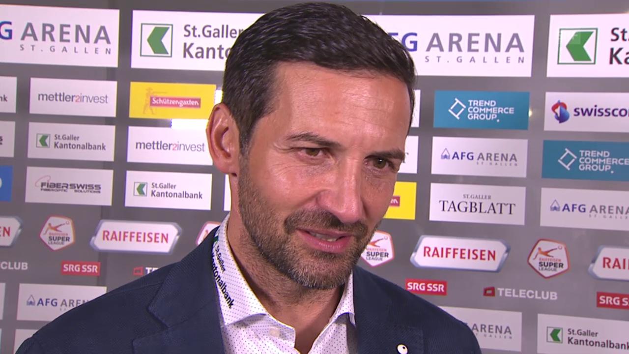 Fussball: Super League, St. Gallen - Thun, Interview Zinnbauer