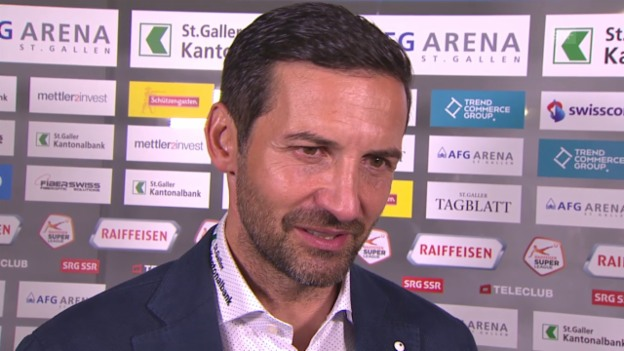 Video «Fussball: Super League, St. Gallen - Thun, Interview Zinnbauer» abspielen