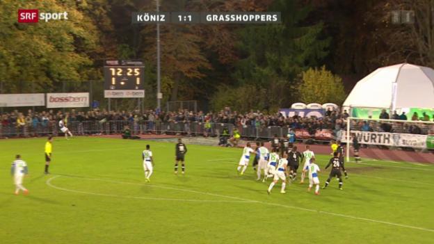 Video «Fussball: Cup-Achtelfinal Köniz - GC» abspielen
