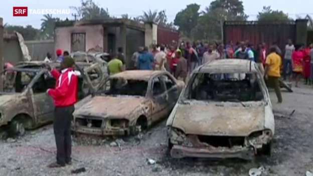 Video «Gasexplosion in Nigeria» abspielen