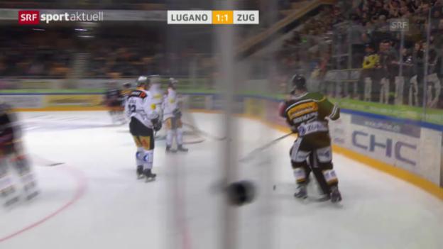 Video «Ungewohnte Szene: Hofmann checkt den Schiedsrichter» abspielen