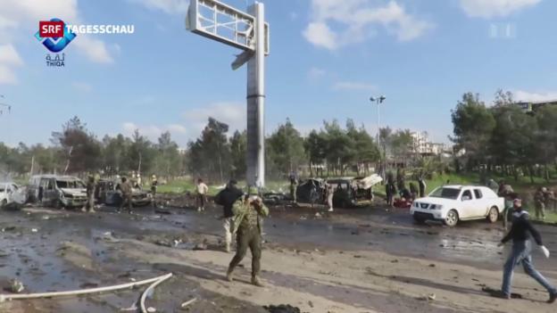Video «Tödlicher Bombenanschlag auf Bus in Syrien» abspielen