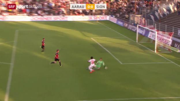 Video «Fussball: Super League, Aarau - Sion» abspielen