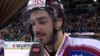 Video «Eishockey: Spengler Cup, Interview mit Denis Hollenstein» abspielen