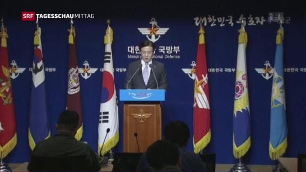 Video «Erneuter Raketentest in Nordkorea» abspielen