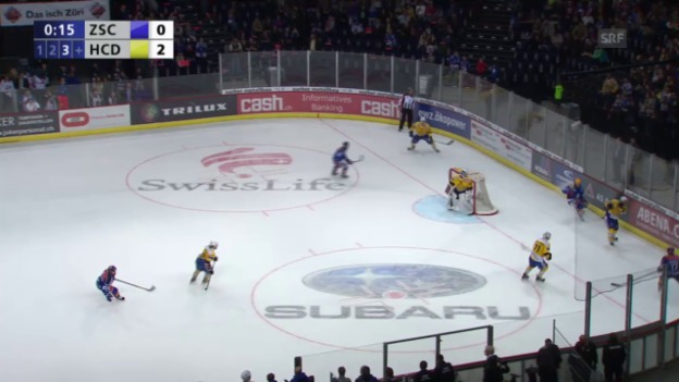 Video «Eishockey, Playoff-Final, 3:0 durch Paschoud» abspielen