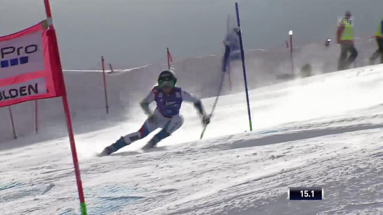 Ski: Riesenslalom Sölden, Lara Guts 1. Lauf
