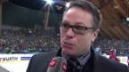 Video «Eishockey: Spengler Cup, Genf - Jokerit helsinki, Interview mit Chris McSorley» abspielen