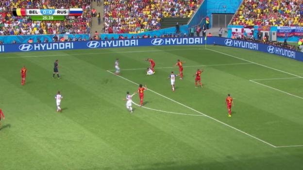Video «Belgien - Russland: Die Live-Highlights» abspielen