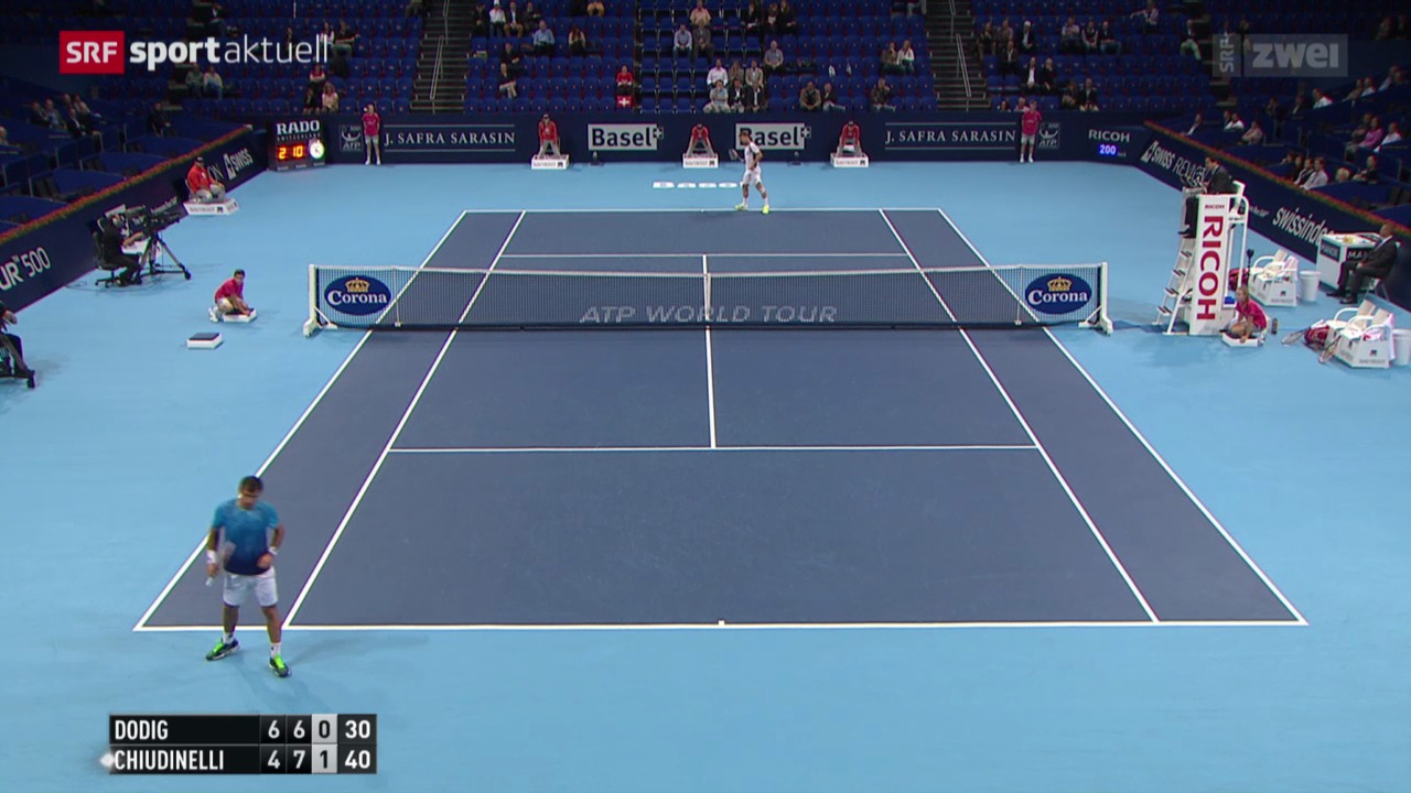 Tennis: Swiss Indoors, Marco Chiudinelli - Ivan Dodig