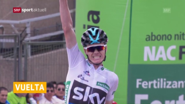 Video «Froome gewinnt 11. Vuelta-Etappe» abspielen