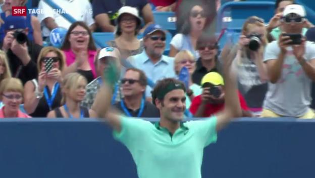 Video «Federer feiert seinen 80. Turniersieg» abspielen