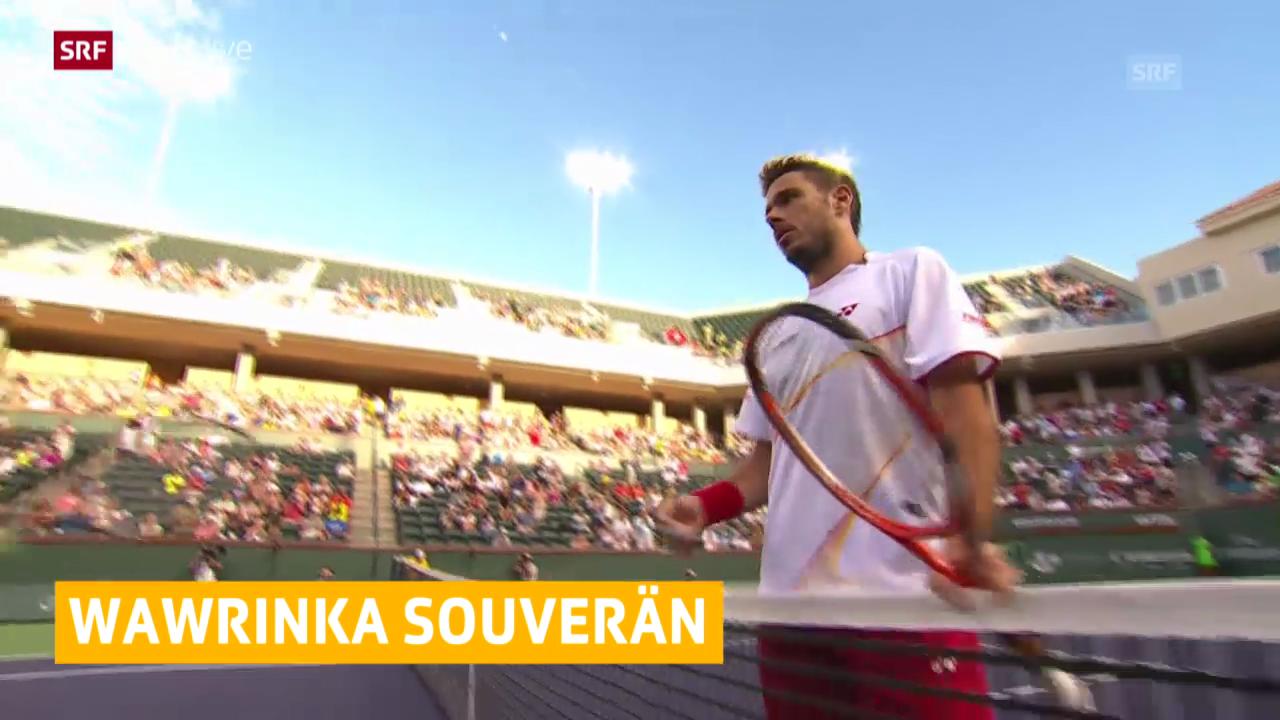 Tennis: Stanislas Wawrinka schlägt Andreas Seppi («sportlive», 11.03.2014)
