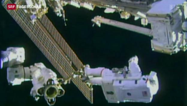 Video «Reibungslose Reparaturarbeiten an der ISS» abspielen