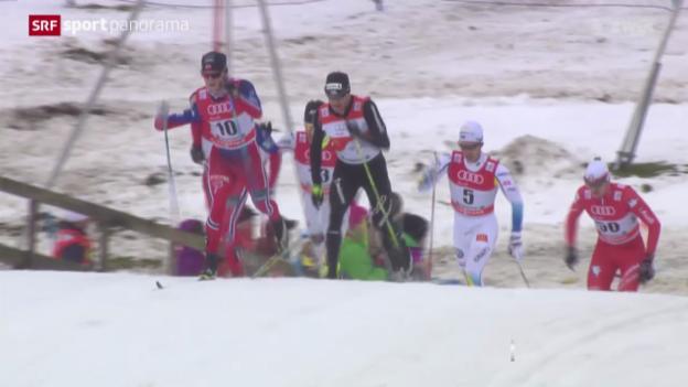 Video «Langlauf: Tour de Ski, 2. Etappe Männer in Oberstdorf» abspielen