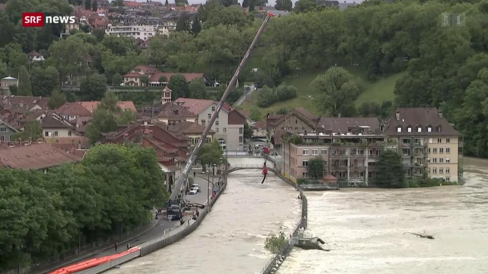 Aus dem Archiv: Hochwassersituation in der Schweiz bleibt angespannt