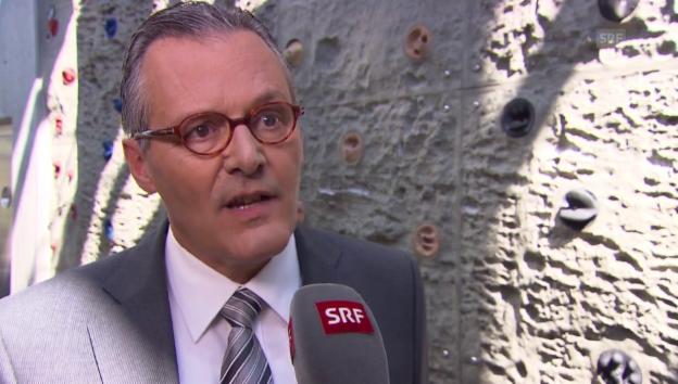 Video «VR-Präsident Hälg zum 1. Quartal und zum Übernahmekampf» abspielen