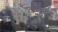 Link öffnet eine Lightbox. Video Rauchwolken über dem Gazastreifen abspielen