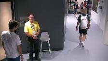 Link öffnet eine Lightbox. Video Federer: Keine Akkreditierug, kein Durchgang abspielen
