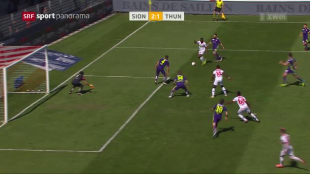 Video «Sion mit Last-Minute-Sieg gegen Thun» abspielen