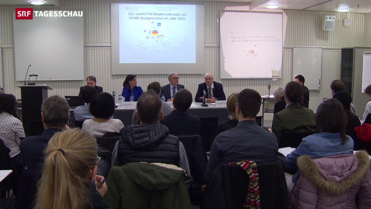 Flüchtlingsstrom in die Schweiz nicht abschätzbar