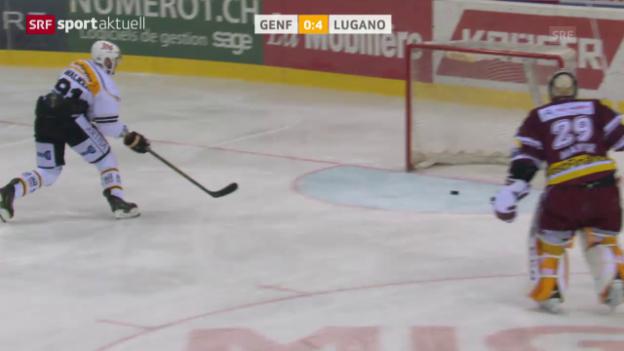 Video «Lugano fertigt Genf mit 5:0 ab» abspielen