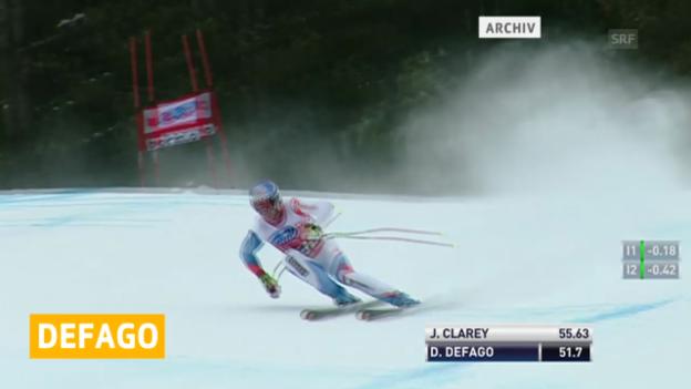 Video «Ski: Männer-Abfahrt Bormio, 2. Training» abspielen