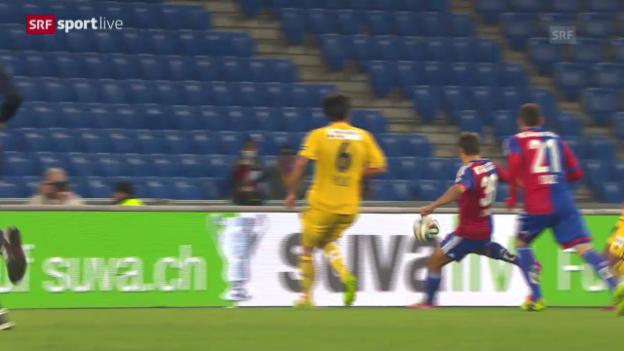 Video «Fussball: Cup-Halbfinal, Zusammenfassung Basel - Luzern» abspielen