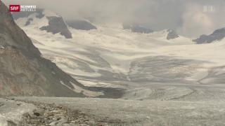 Video «Sommer 2015: Massiver Gletscherschwund im Wallis» abspielen