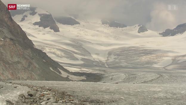 Video «Massiver Gletscherschwund im Wallis» abspielen
