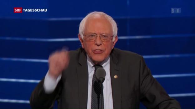 Video «Sanders brilliert beim Konvent der Demokraten» abspielen