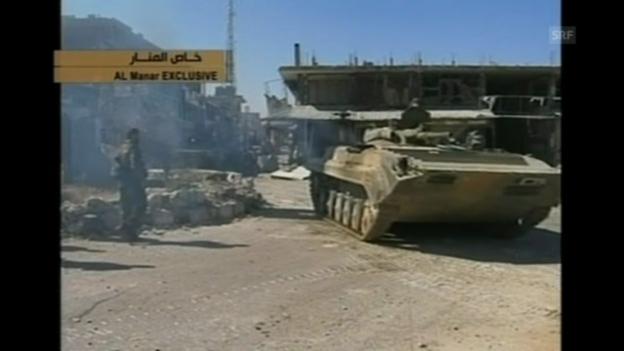 Video «Syrische Armee nimmt Kusair ein (unkommentiert)» abspielen