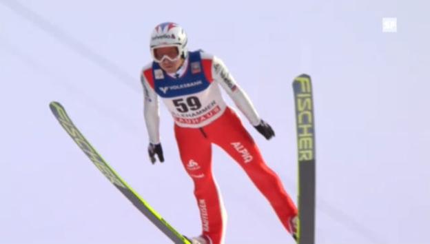 Video «Skispringen: Der 1. Sprung von Simon Ammann («sportlive»)» abspielen