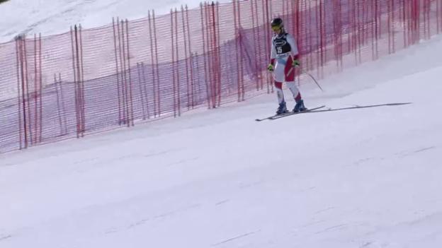 Video «Ausfall von Fabienne Suter in Cortina» abspielen