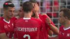Video «Schweiz besiegt Japan bei der WM-Hauptprobe» abspielen