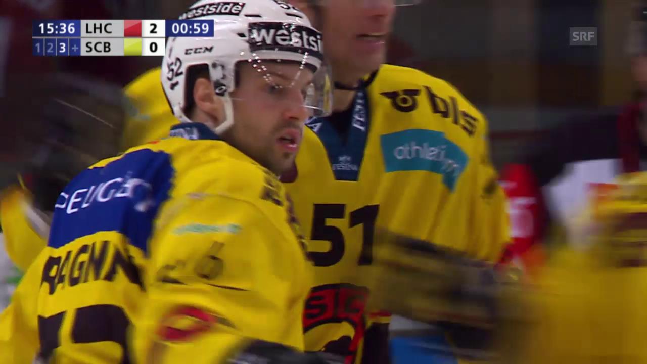 Eishockey: Playoff-Viertelfinal, Runde 2, Lausanne - Bern, Berns Gragnani trifft zum 1:2