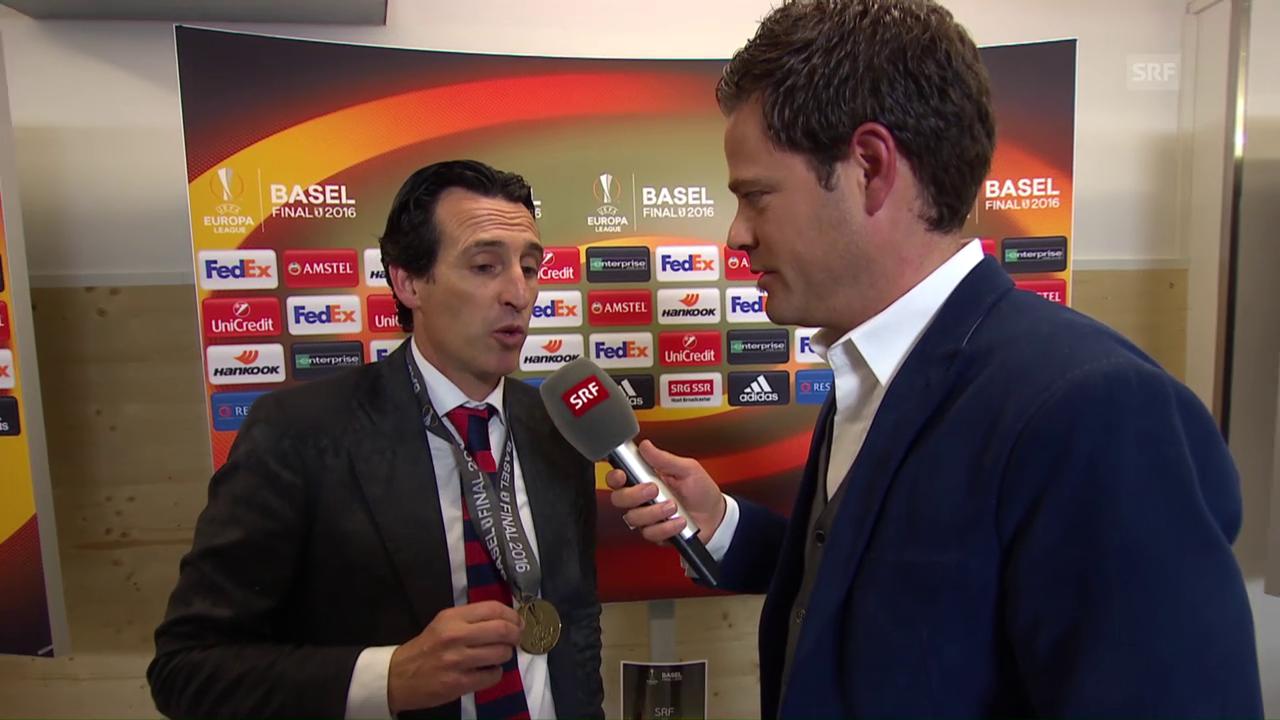 Sevilla-Coach Emery im Sieger-Interview
