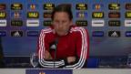 Video «Fussball: Salzburg-Coach Schmidt vor dem Basel-Spiel» abspielen