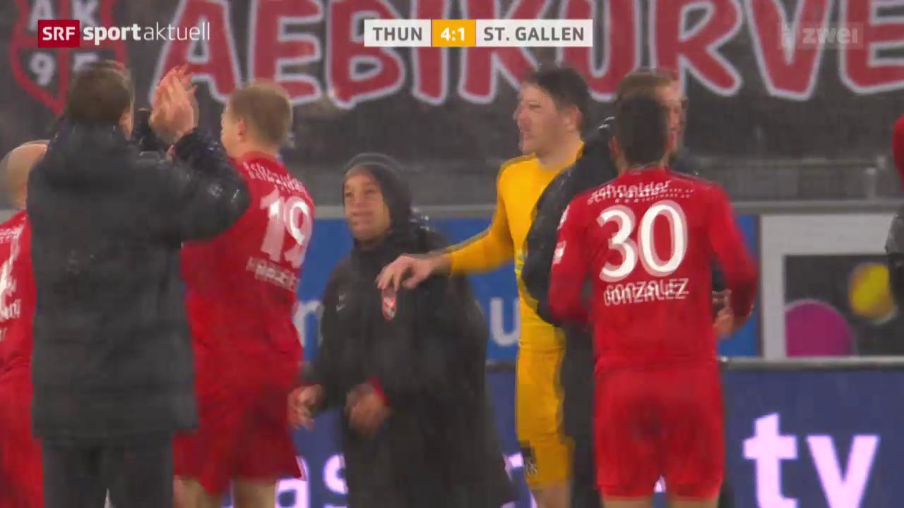 Fussball: Super League, Thun - St. Gallen
