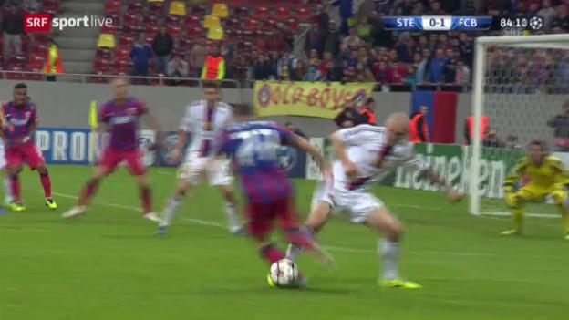 Video «Ivanovs Aktionen gegen Steaua Bukarest» abspielen