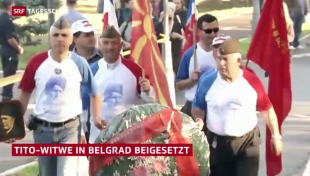Video «Trauerfeier für Tito-Witwe» abspielen