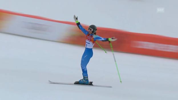 Video «Ski: Riesenslalom Frauen, 2. Lauf Maze (sotschi direkt, 18.2.2014)» abspielen