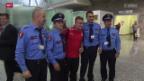 Video «Fussball: Ankunft der Nati in Albanien» abspielen