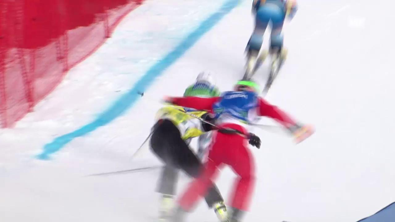 Freestyle-WM in Kreischberg: Skicross, Achtelfinal der Männer mit Alex Fiva