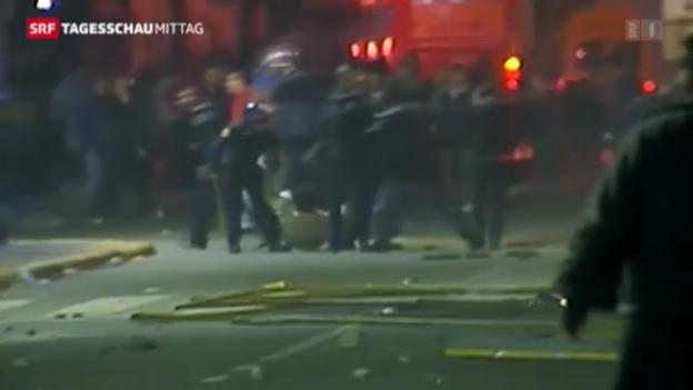 Video «Ausschreitungen in Argentinien» abspielen